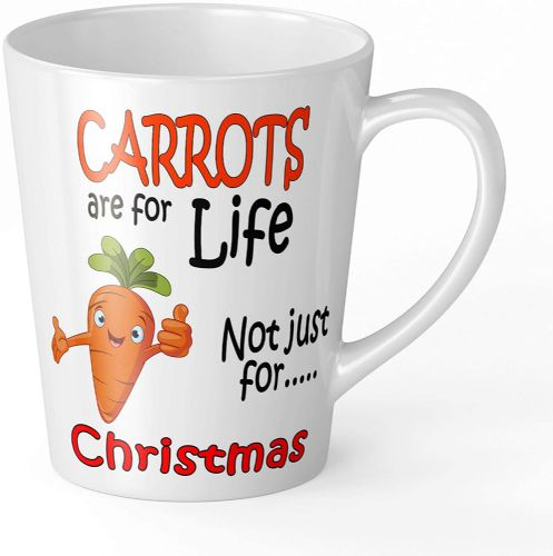 Carrots are for Life Not Just for Christmas Funny Novelty Gift Latte Mug